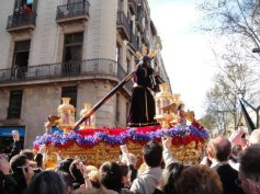 Semana Santa (Holy Week) in Barcelona, near Easter. Amazing processions and celebrations