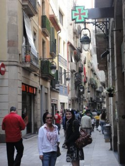 The streets of the Barri Gotic