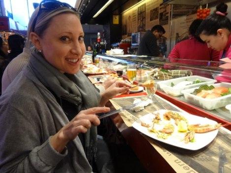 Eating our way through La Boqueria