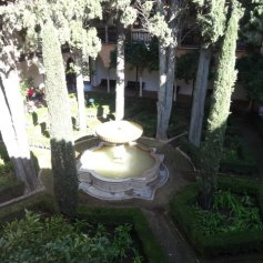 One of the lovely courtyards in the Alhambra