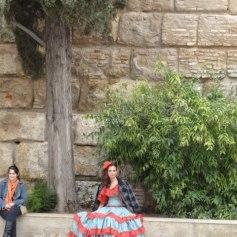 Flamenco dancer taking a break