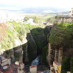The famous gorge in Ronda