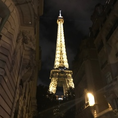 Great place to see the Eiffel Tower at night