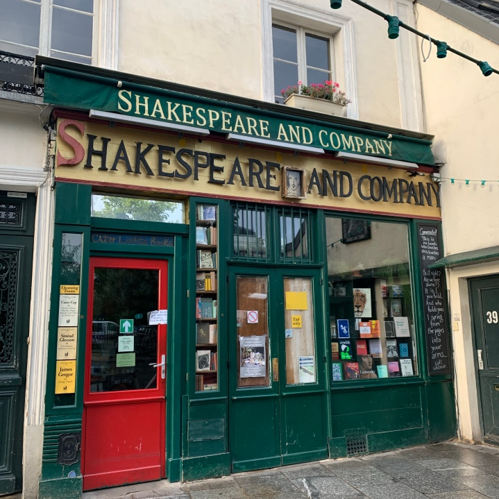 Famous Shakespeare & Co. bookstore
