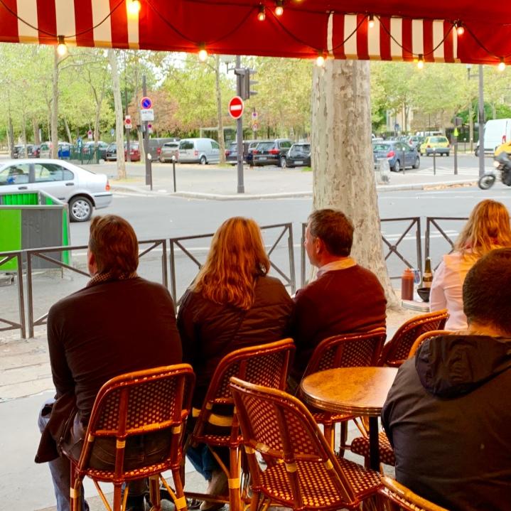 Cafe sitting