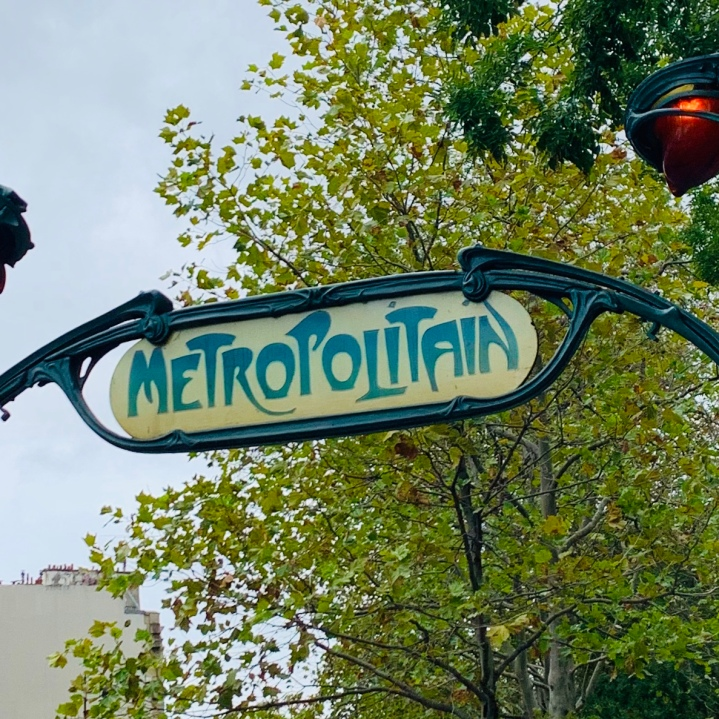 Art Nouveau Metro sings are everywhere