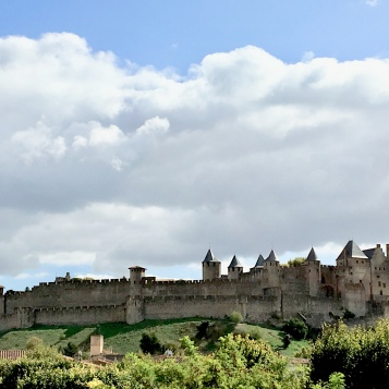 The old cite from lower Carcassonne