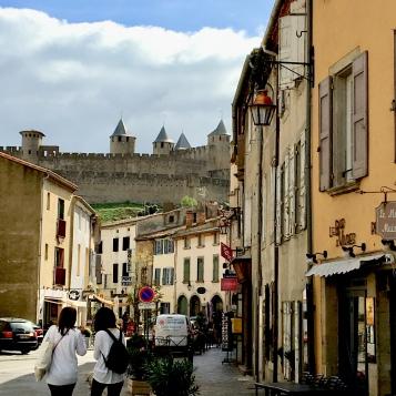 Walking through lower Carcassonne