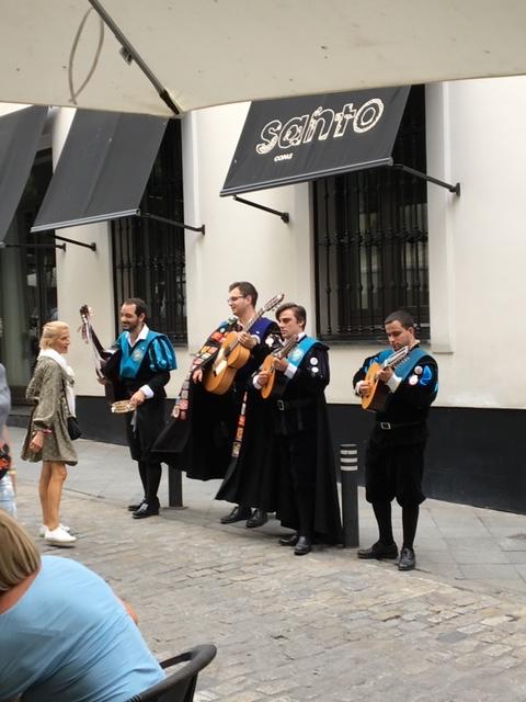 Street musicians of Seville