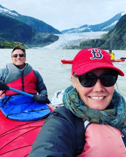 Tired but happy we reached the glacier!