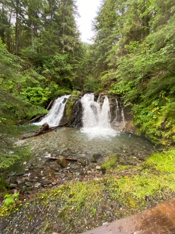Pretty waterfall at the salmon bake